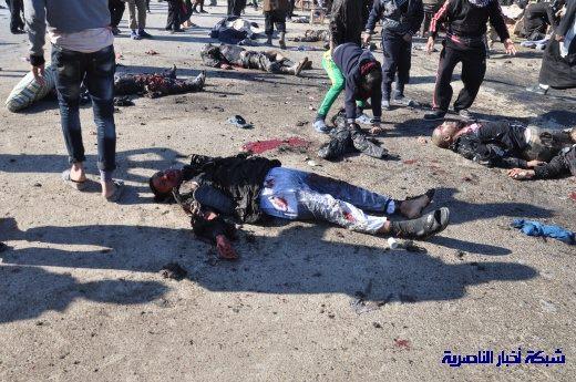 صور حصرية التقطت بعد لحظات من وقوع الانفجار الارهابي في مدينة البطحاء Nasiriyah019