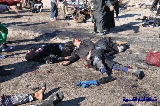 صور حصرية التقطت بعد لحظات من وقوع الانفجار الارهابي في مدينة البطحاء Nasiriyah020