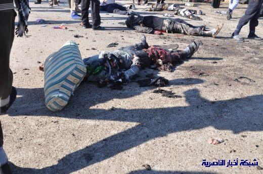 صور حصرية التقطت بعد لحظات من وقوع الانفجار الارهابي في مدينة البطحاء Nasiriyah022