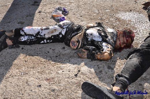 صور حصرية التقطت بعد لحظات من وقوع الانفجار الارهابي في مدينة البطحاء Nasiriyah025
