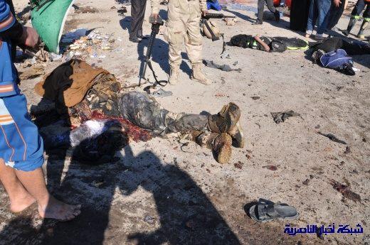 صور حصرية التقطت بعد لحظات من وقوع الانفجار الارهابي في مدينة البطحاء Nasiriyah028