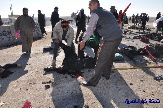 صور حصرية التقطت بعد لحظات من وقوع الانفجار الارهابي في مدينة البطحاء Nasiriyah030