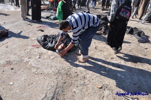 صور حصرية التقطت بعد لحظات من وقوع الانفجار الارهابي في مدينة البطحاء Nasiriyah031