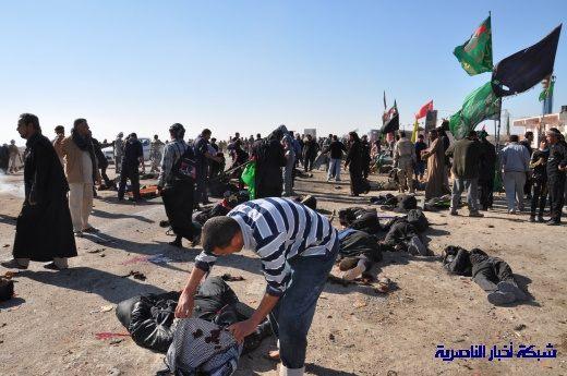 صور حصرية التقطت بعد لحظات من وقوع الانفجار الارهابي في مدينة البطحاء Nasiriyah032