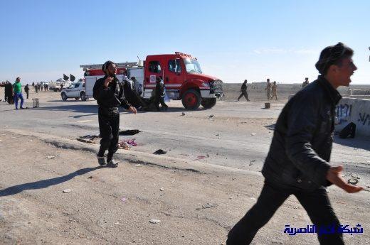 صور حصرية التقطت بعد لحظات من وقوع الانفجار الارهابي في مدينة البطحاء Nasiriyah033