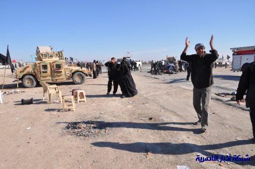 صور حصرية التقطت بعد لحظات من وقوع الانفجار الارهابي في مدينة البطحاء Nasiriyah035
