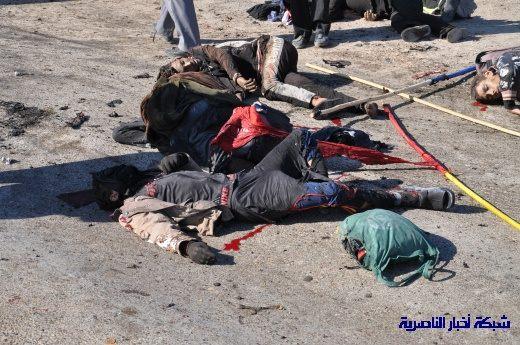 صور حصرية التقطت بعد لحظات من وقوع الانفجار الارهابي في مدينة البطحاء Nasiriyah036
