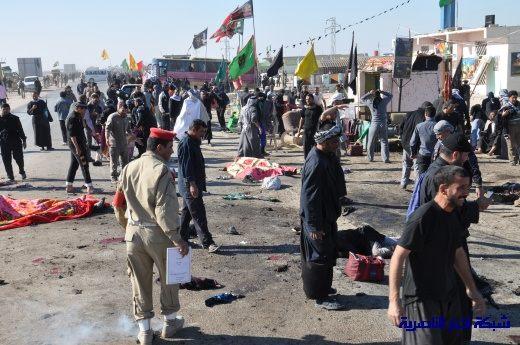 صور حصرية التقطت بعد لحظات من وقوع الانفجار الارهابي في مدينة البطحاء Nasiriyah037