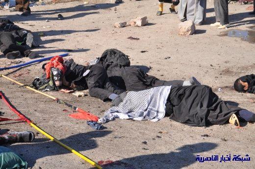 صور حصرية التقطت بعد لحظات من وقوع الانفجار الارهابي في مدينة البطحاء Nasiriyah038