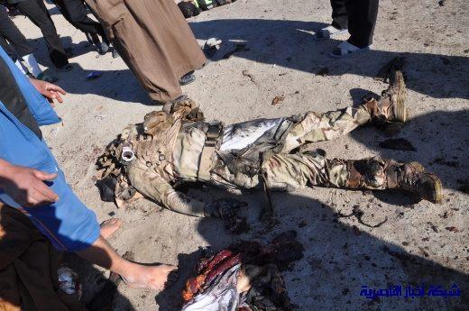 صور حصرية التقطت بعد لحظات من وقوع الانفجار الارهابي في مدينة البطحاء Nasiriyah043