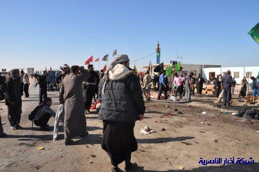 صور حصرية التقطت بعد لحظات من وقوع الانفجار الارهابي في مدينة البطحاء Nasiriyah045