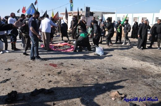 صور حصرية التقطت بعد لحظات من وقوع الانفجار الارهابي في مدينة البطحاء Nasiriyah046
