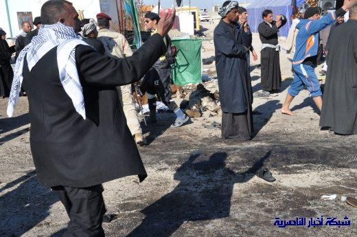 صور حصرية التقطت بعد لحظات من وقوع الانفجار الارهابي في مدينة البطحاء Nasiriyah047