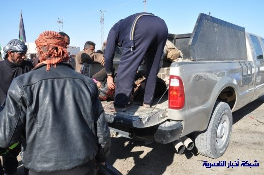 صور حصرية التقطت بعد لحظات من وقوع الانفجار الارهابي في مدينة البطحاء Nasiriyah052