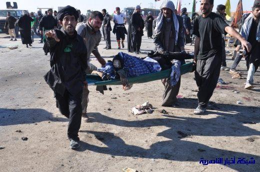 صور حصرية التقطت بعد لحظات من وقوع الانفجار الارهابي في مدينة البطحاء Nasiriyah053