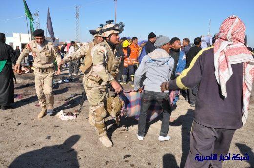 صور حصرية التقطت بعد لحظات من وقوع الانفجار الارهابي في مدينة البطحاء Nasiriyah054