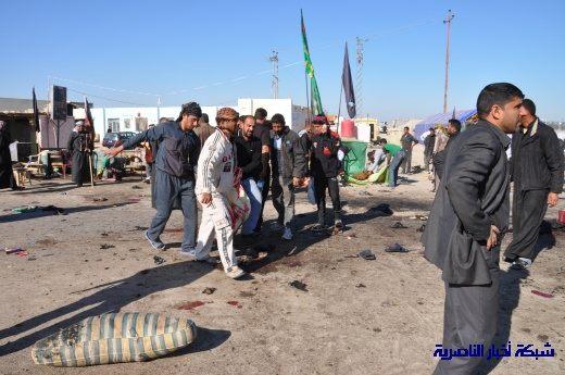 صور حصرية التقطت بعد لحظات من وقوع الانفجار الارهابي في مدينة البطحاء Nasiriyah055