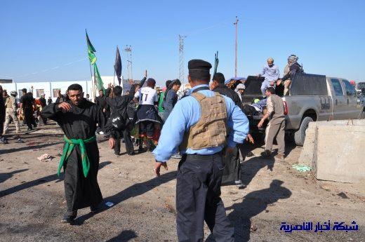 صور حصرية التقطت بعد لحظات من وقوع الانفجار الارهابي في مدينة البطحاء Nasiriyah056
