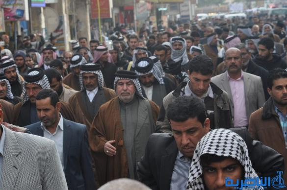 تشييع رسمي وشعبي كبير لاحد شهداء الناصرية في الحرب ضد داعش في الانبار – تقرير مصور –